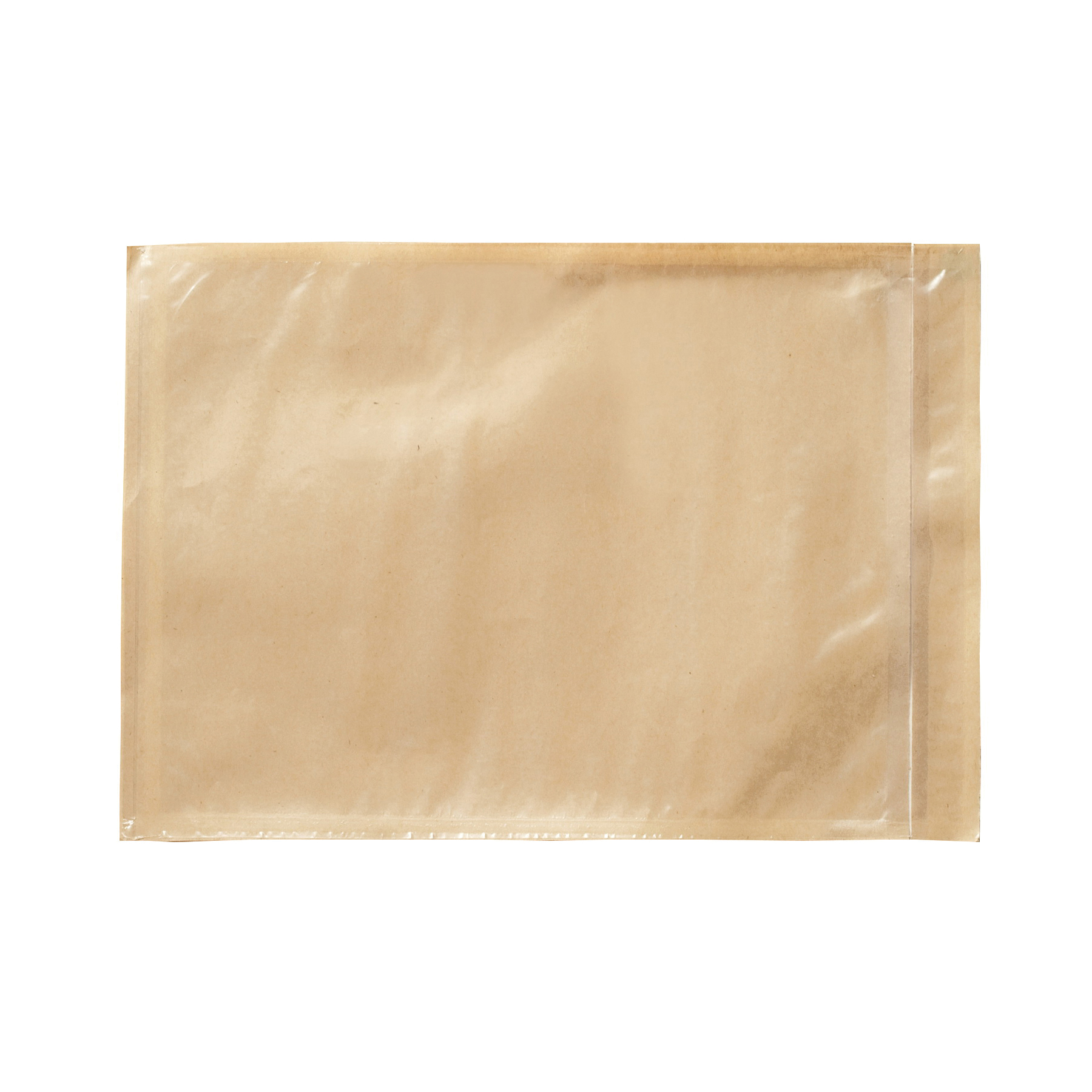 3M™ 021200-73779 Non-Printed Packing List Envelope, 10 in L x 7 in W, Polyethylene Film Backing, Clear