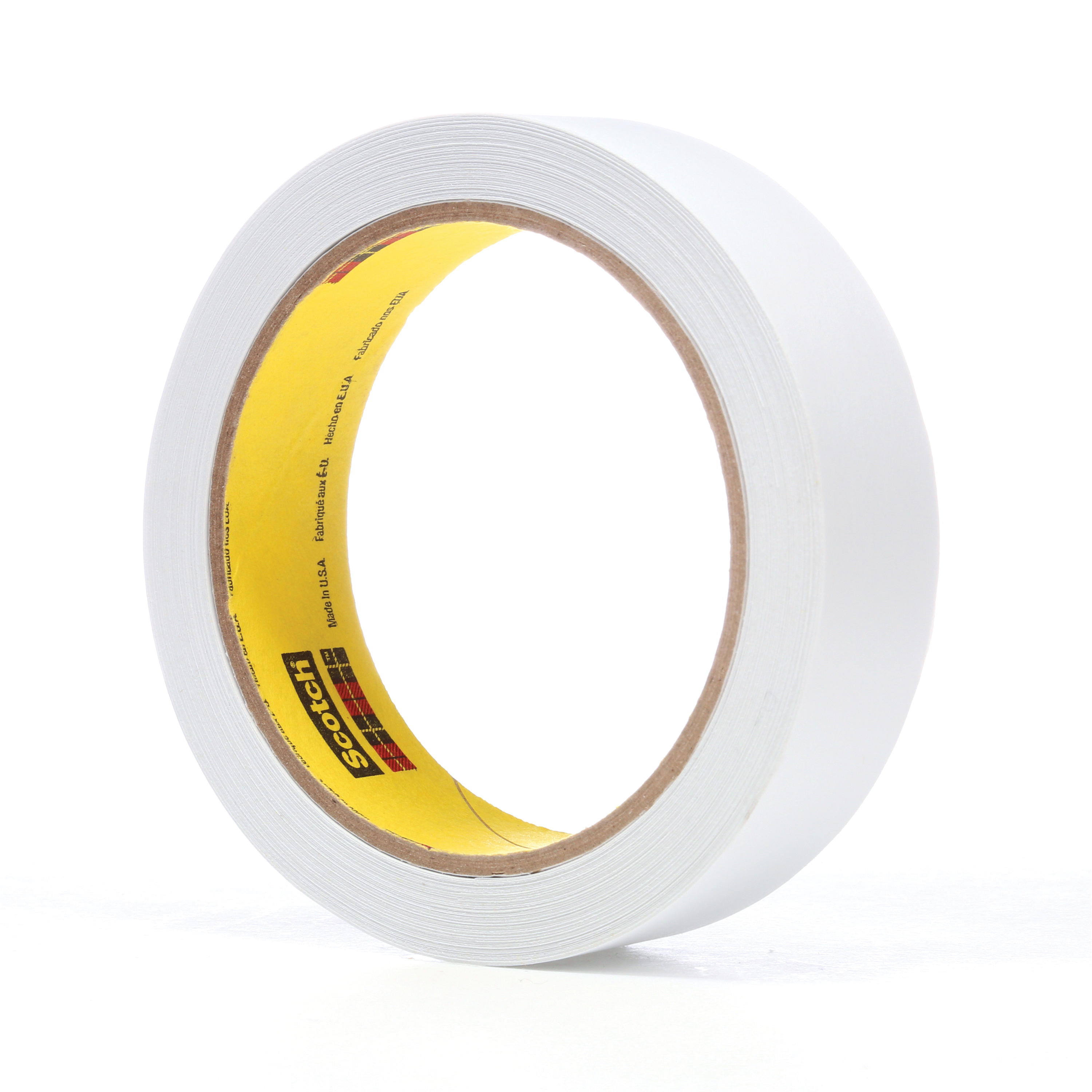 3M™ 021200-86009 3051 Low Tack Tape, 36 yd L x 1 in W, 3.8 mil THK, Acrylic Adhesive, Flatback Paper Backing