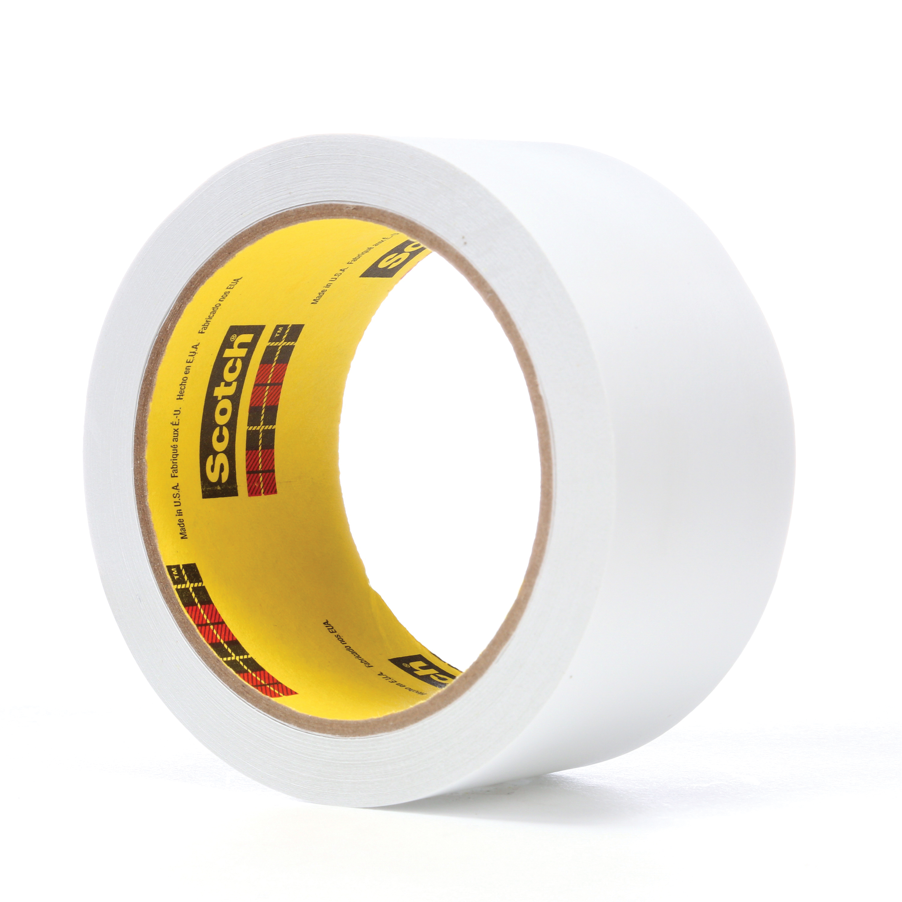 3M™ 021200-86010 Low Tack Tape, 36 yd L x 2 in W, 3.8 mil THK, Acrylic Adhesive, Flatback Paper Backing