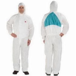 3M™ 046719-46775 4520 Light Duty Disposable Coverall, 2XL, Green/White, SMMMS Polypropylene, 45 to 49 in Chest, 34 in L Inseam