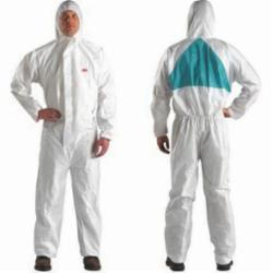 3M™ 046719-46777 4520 Light Duty Disposable Coverall, 3XL, Green/White, SMMMS Polypropylene, 49 to 52 in Chest, 35 in L Inseam