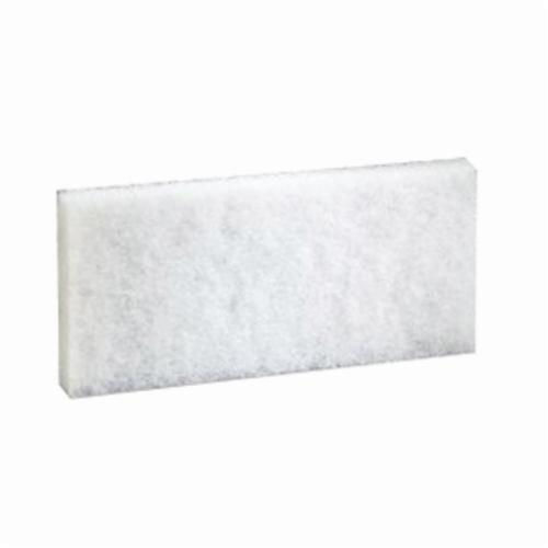 3M™ Doodlebug™ 048011-08003 Cleaning Pad, 10 in L x 4.6 in W x 1/2 in THK, White