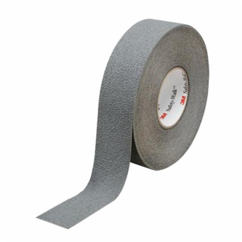 3M™ Safety-Walk™ 048011-19323 Medium Duty Resilient Slip-Resistant Tape, 60 ft/Roll L x 2 in W x 0.045 in THK, Plastic Film Substrate, Solid Surface Pattern, Smooth/Wet Surface