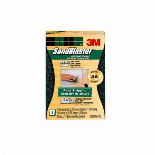 3M™ SandBlaster™ 051111-11515 Advanced Sanding Sponge, 3-3/4 in L x 2-1/2 in W x 1 in THK, 36 Grit, Coarse Grade
