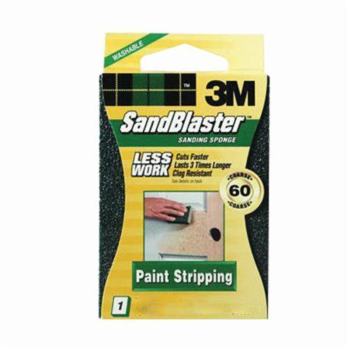 3M™ SandBlaster™ 051111-11516 Advanced Sanding Sponge, 3-3/4 in L x 2-1/2 in W x 1 in THK, 60 Grit, Coarse Grade