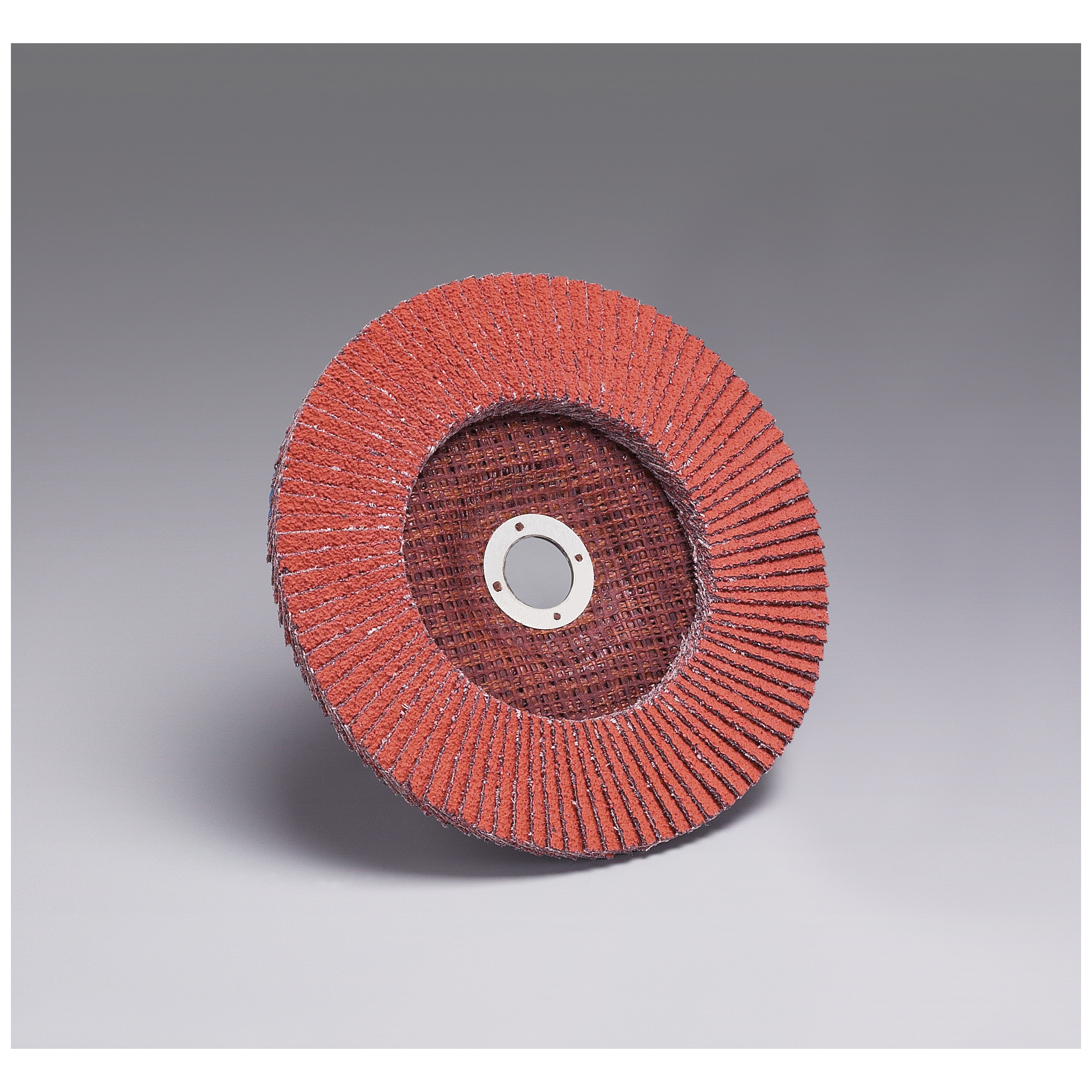 3M™ 051111-49612 Close Quick-Change Coated Abrasive Flap Disc, 7 in Dia, 7/8 in Center Hole, P120 Grit, Fine Grade, Ceramic Abrasive, Type 27 Disc