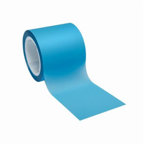 3M™ 051111-49765 Plain Back Lapping Film Roll, 4 in W x 150 ft L, 9 u Grit, Super Fine Grade, Aluminum Oxide Abrasive, Blue