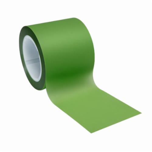 3M™ 051111-50024 Plain Back Lapping Film Roll, 4 in W x 600 ft L, 30 u Grit, Fine Grade, Aluminum Oxide Abrasive, Green