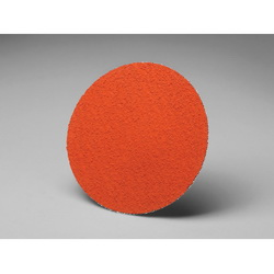 3M™ 051111-50168 777F PSA Mill File, 5 in Dia Disc, 80 Grit, Medium Grade, Ceramic Abrasive, Polyester Backing