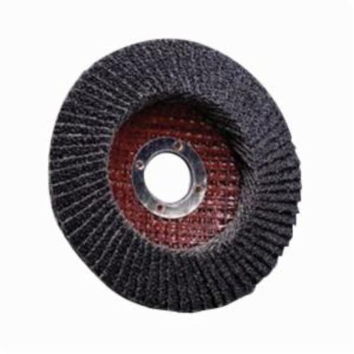 3M™ 051111-50471 Coated Abrasive Flap Disc, 4-1/2 in Dia, 7/8 in Center Hole, P120 Grit, Medium Grade, Zirconia Alumina Abrasive, Type 29/Conical Disc