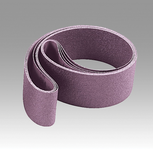 3M™ 051111-50787 Narrow Coated Abrasive Belt, 2-1/2 in W x 60 in L, 36 Grit, Very Coarse Grade, Ceramic Abrasive, Cloth Backing