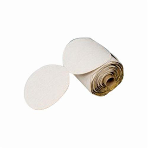 3M™ 051111-54469 Type D Closed Coated Microfinishing PSA Abrasive Disc Roll, 3 in Dia, 9 micron Grit, Ultra Fine Grade, Aluminum Oxide Abrasive, Polyester Film Backing