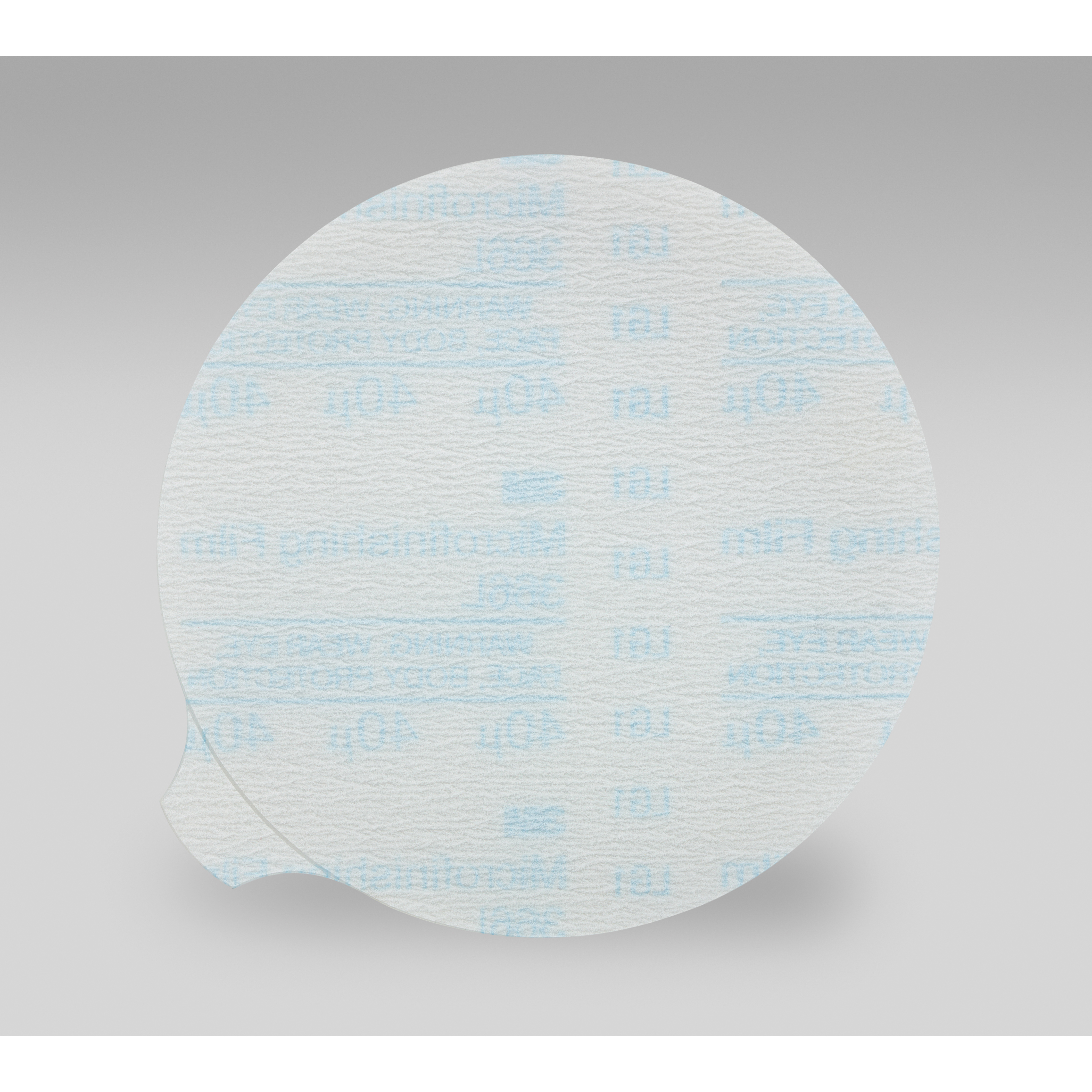 3M™ 051144-82638 268L Type D Closed Coated Microfinishing PSA Orbital Sanding Disc, 3 in Dia Disc, 40 micron Grit, Extra Fine Grade, Aluminum Oxide Abrasive, Polyester Film Backing