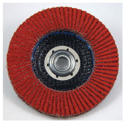 3M™ 051111-61194 947D Close Threaded Close Coated Flap Disc, 4-1/2 in Dia Disc, 120 Grit, Fine Grade, Ceramic Abrasive, Type 27 Disc
