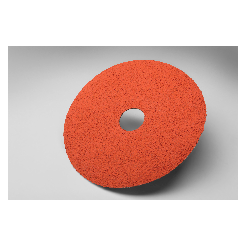 3M™ 051144-80654 Close Coated Abrasive Disc, 5 in Dia, 7/8 in Center Hole, P100 Grit, Medium Grade, Aluminum Oxide/Ceramic Abrasive, Arbor Attachment