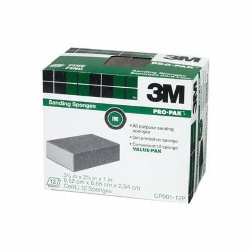 3M™ 051115-00631 High Flexibility Sanding Sponge, 3-3/4 in L x 2-5/8 in W x 1/2 in THK, Fine Grade
