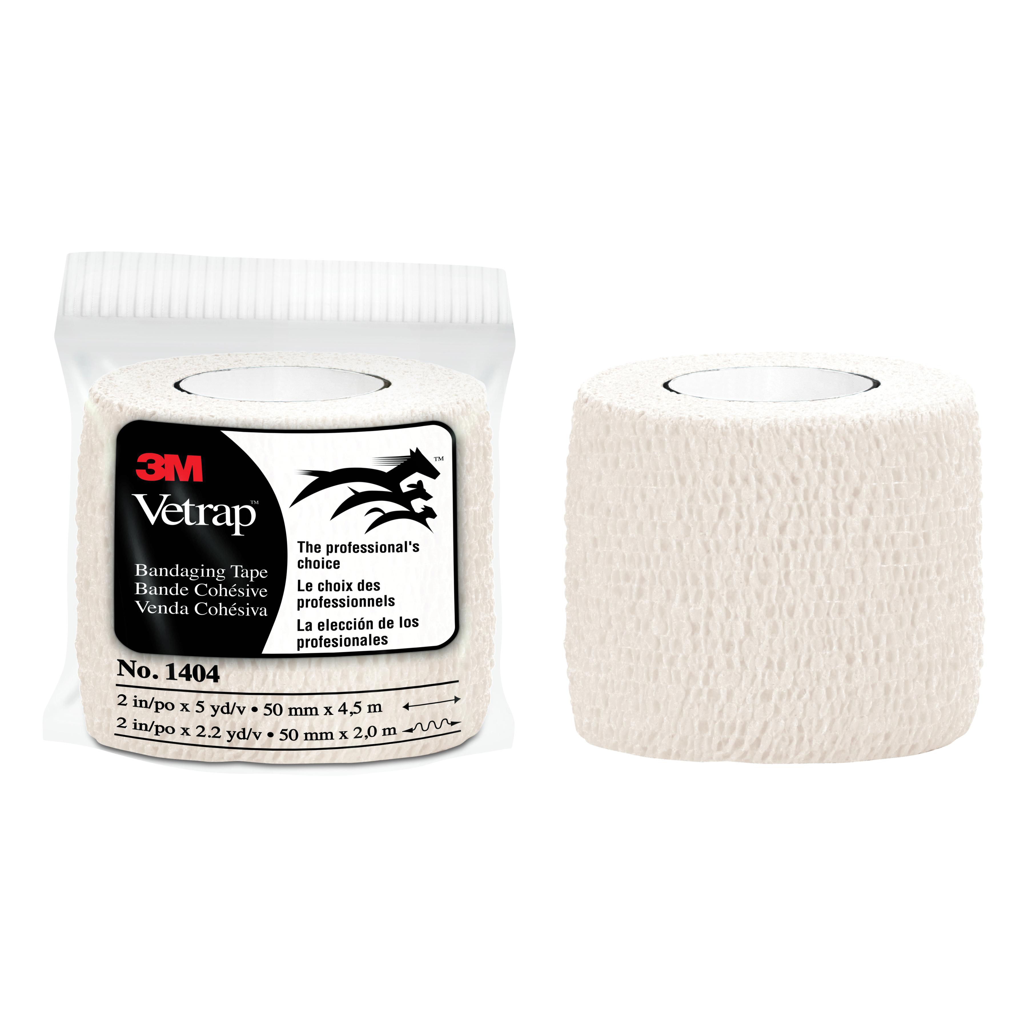 3M™ Vetrap™ 051115-04859 Stretched Bandaging Tape, 5 yd L x 2 in W, White, Vetrap™