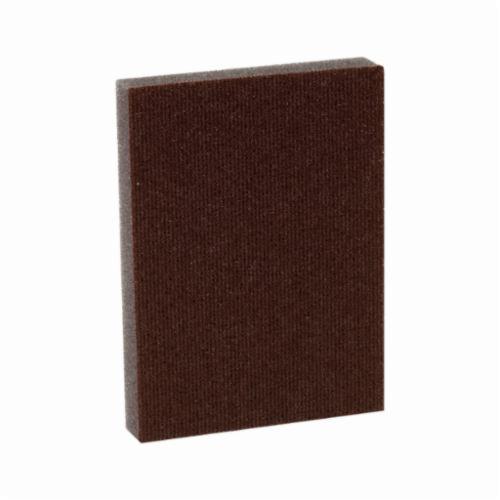 3M™ 051115-07059 Pro-Pad™ Sanding Pad, 4 in L x 2-7/8 in W x 1/2 in THK, 100 Grit, Fine Grade
