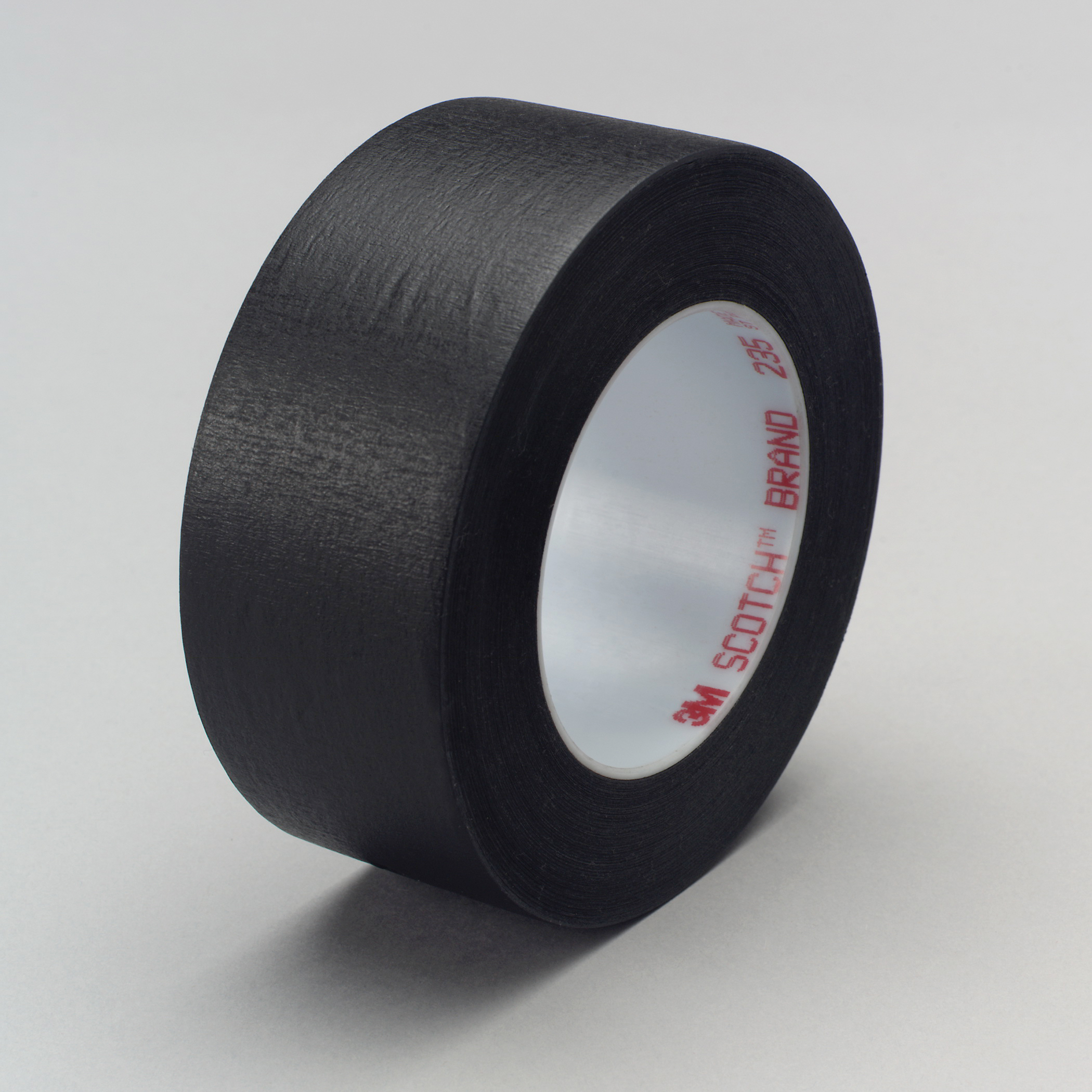 3M™ 021200-02838 Photographic Tape, 60 yd L x 1/2 in W, 7 mil THK, Rubber Adhesive, Crepe Paper Backing, Black