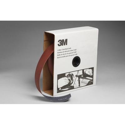 3M™ 051115-19822 Utility Cloth Roll, 2 in W x 50 yd L, P100 Grit, Fine Grade, Aluminum Oxide Abrasive, Cloth Backing