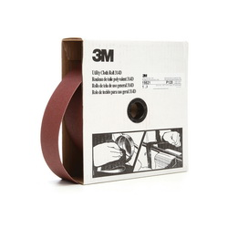 3M™ 19821 Utility Closed Coated Abrasive Roll, 50 yd L x 2 in W, 120 Grit, Fine Grade, Aluminum Oxide Abrasive, Cloth Backing