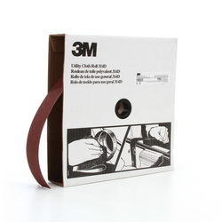 3M™ 19823 Utility Closed Coated Abrasive Roll, 50 yd L x 2 in W, 80 Grit, Medium Grade, Aluminum Oxide Abrasive, Cloth Backing