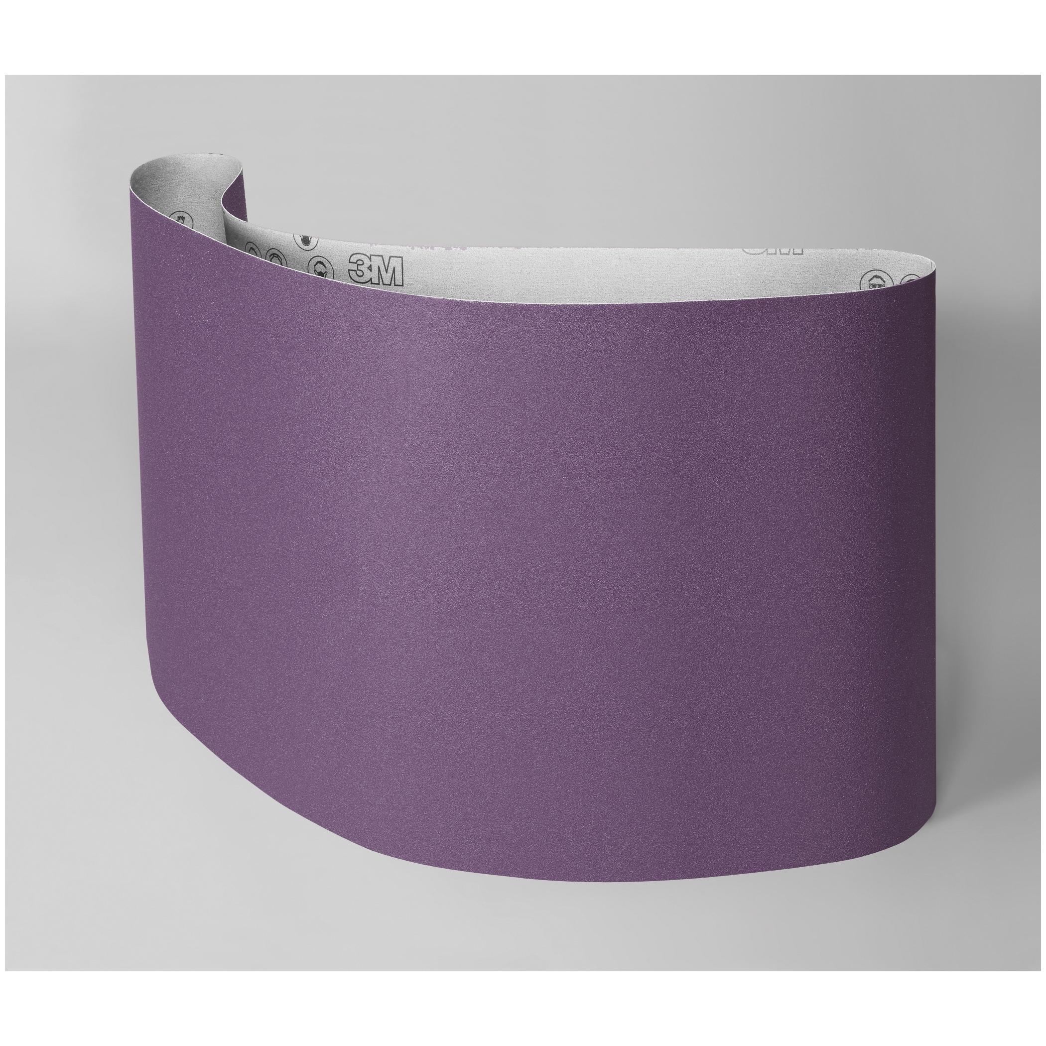 3M™ 051115-27397 Narrow Coated Abrasive Belt, 12 in W x 226 in L, 80 Grit, Medium Grade, Ceramic Abrasive, Cloth Backing