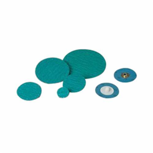 3M™ Standard Abrasives™ SocAtt Power Zirc 051115-32441 528425 Quick-Change Coated Abrasive Disc, 2 in Dia Disc, 60 Grit, Medium Grade, Zirconia Pro Abrasive, Type TS Attachment