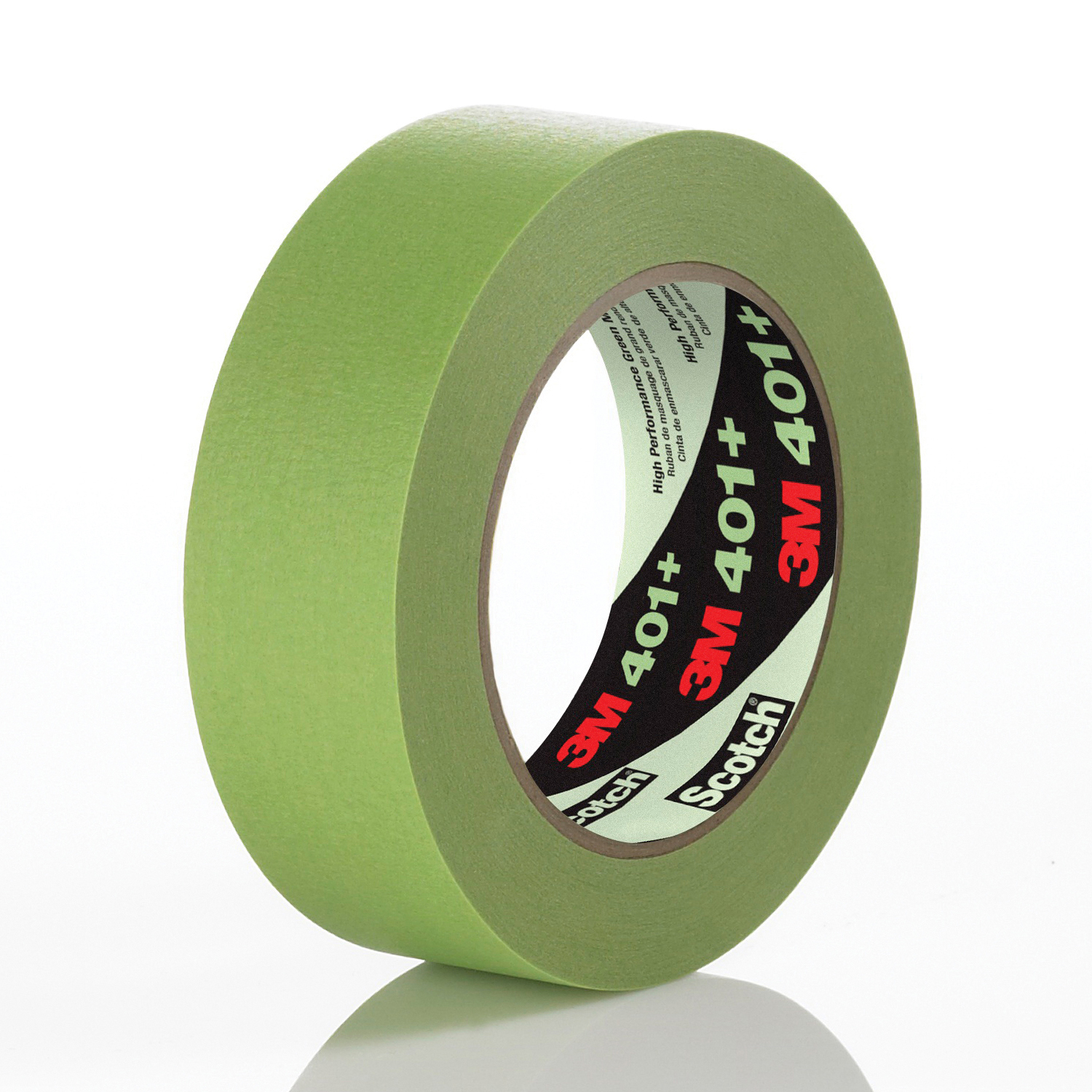 3M™ 051115-64759 High Performance Masking Tape, 55 m L x 12 mm W, 6.7 mil THK, Natural/Synthetic Rubber Adhesive, Crepe Paper Backing