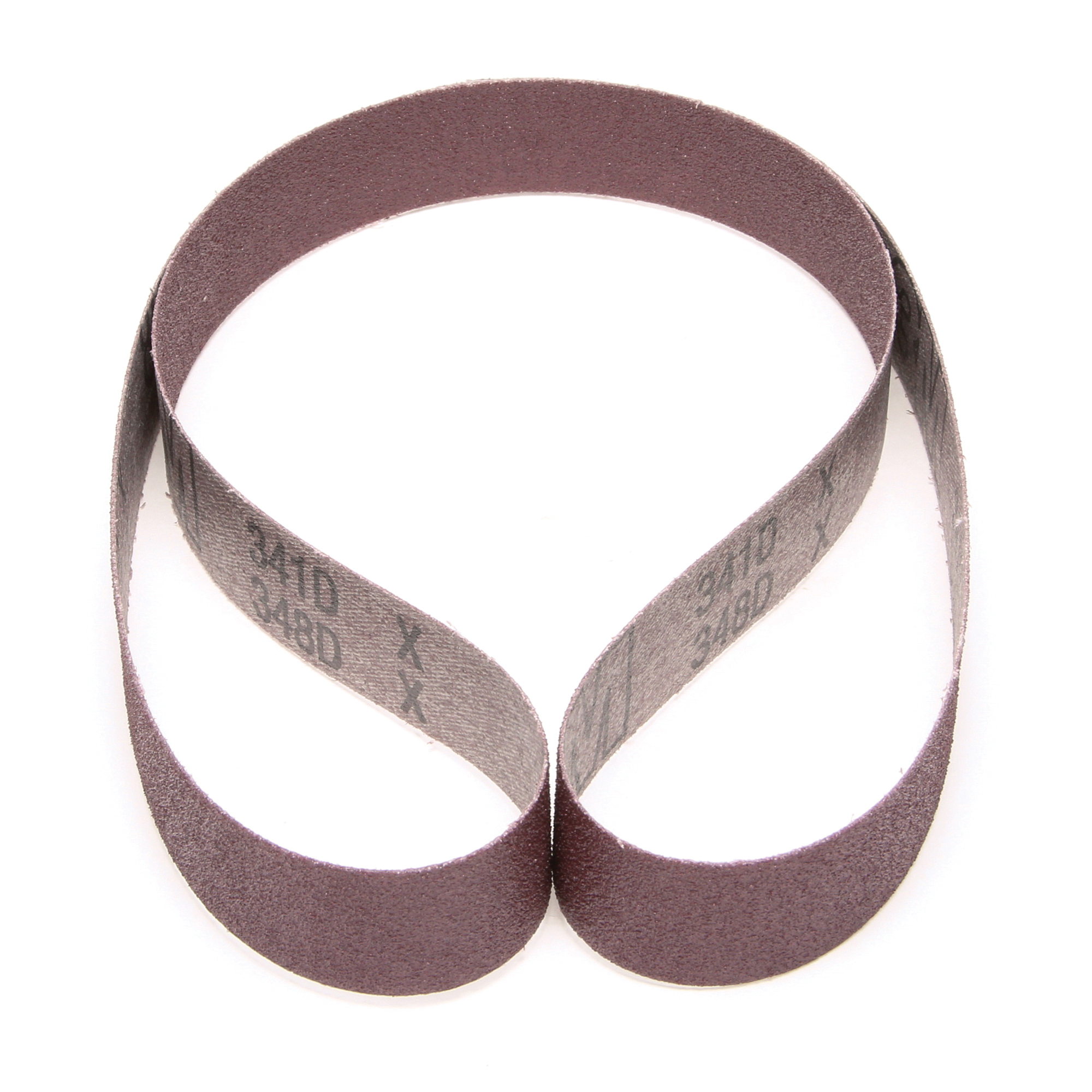 3M™ 051115-66621 341D Narrow Abrasive Belt, 1 in W x 42 in L, 80 Grit, Medium Grade, Aluminum Oxide Abrasive, Cloth Backing