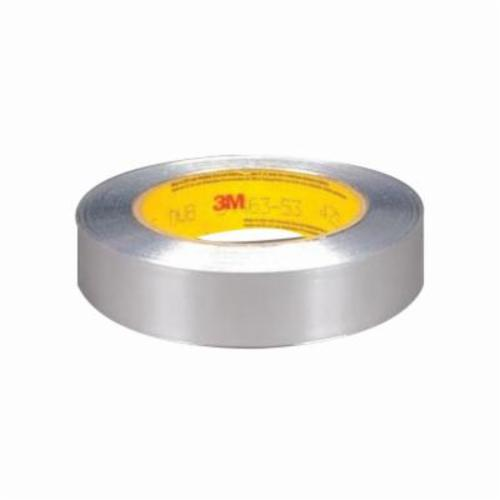 3M™ 051125-85312 425 Non-Conductive Premium Performance Self-Wound Foil Tape, 60 yd L x 3 in W, 4.6 mil THK, Acrylic Adhesive, 2.8 mil Aluminum Backing, Silver