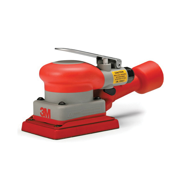 3M™ 051141-20431 Self-Generated Vacuum Pneumatic Random Orbital Sander, 3 x 4 in Pad, 17 scfm Air Flow