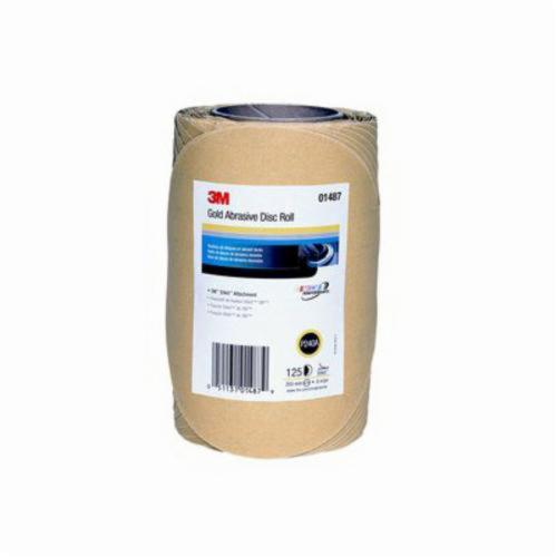 3M™ Stikit™ 051131-01487 Open Coated PSA Abrasive Disc Roll, 8 in Dia Disc, P240 Grit, Very Fine Grade, Aluminum Oxide Abrasive, Paper Backing