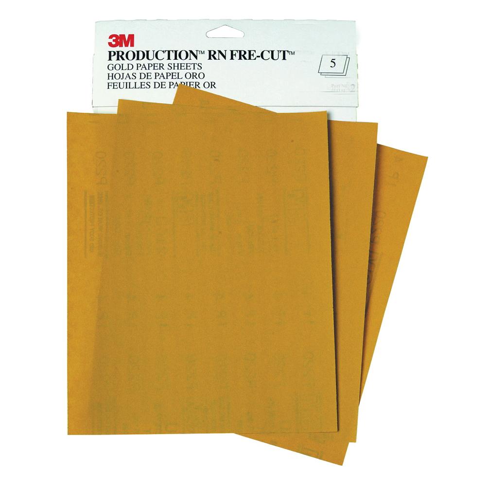 3M™ 051131-02547 216U Coated Sanding Sheet, 11 in L x 9 in W, P120 Grit, Coarse Grade, Aluminum Oxide Abrasive, Paper Backing