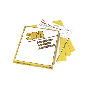 3M™ Production™ Resinite™ 051131-02552 Clip-On Coated Abrasive Sheet, 9 in L x 3-2/3 in W, P220 Grit, Coarse Grade, Aluminum Oxide Abrasive, Paper Backing