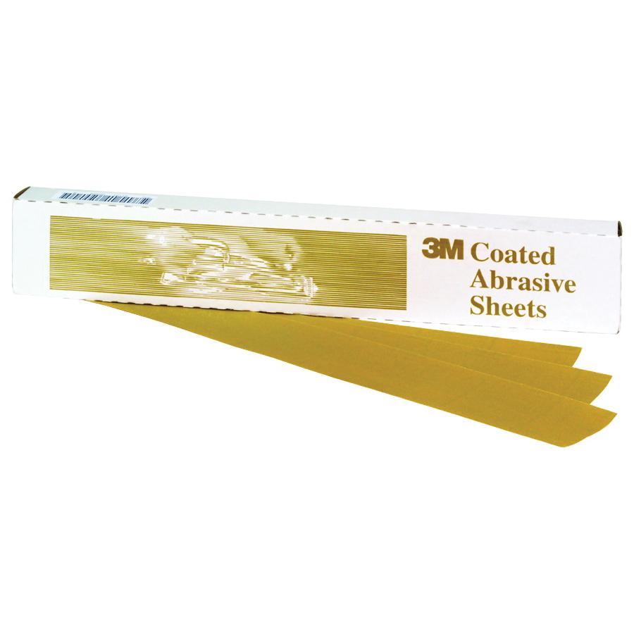 3M™ 051131-02551 216U Clip-On Coated Sanding Sheet, 9 in L x 3-2/3 in W, P320 Grit, Medium Grade, Aluminum Oxide Abrasive, Paper Backing