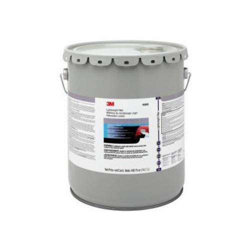 3M™ 051131-05805 Lightweight Body Filler, 5 gal Pail, Gray/Red, Paste
