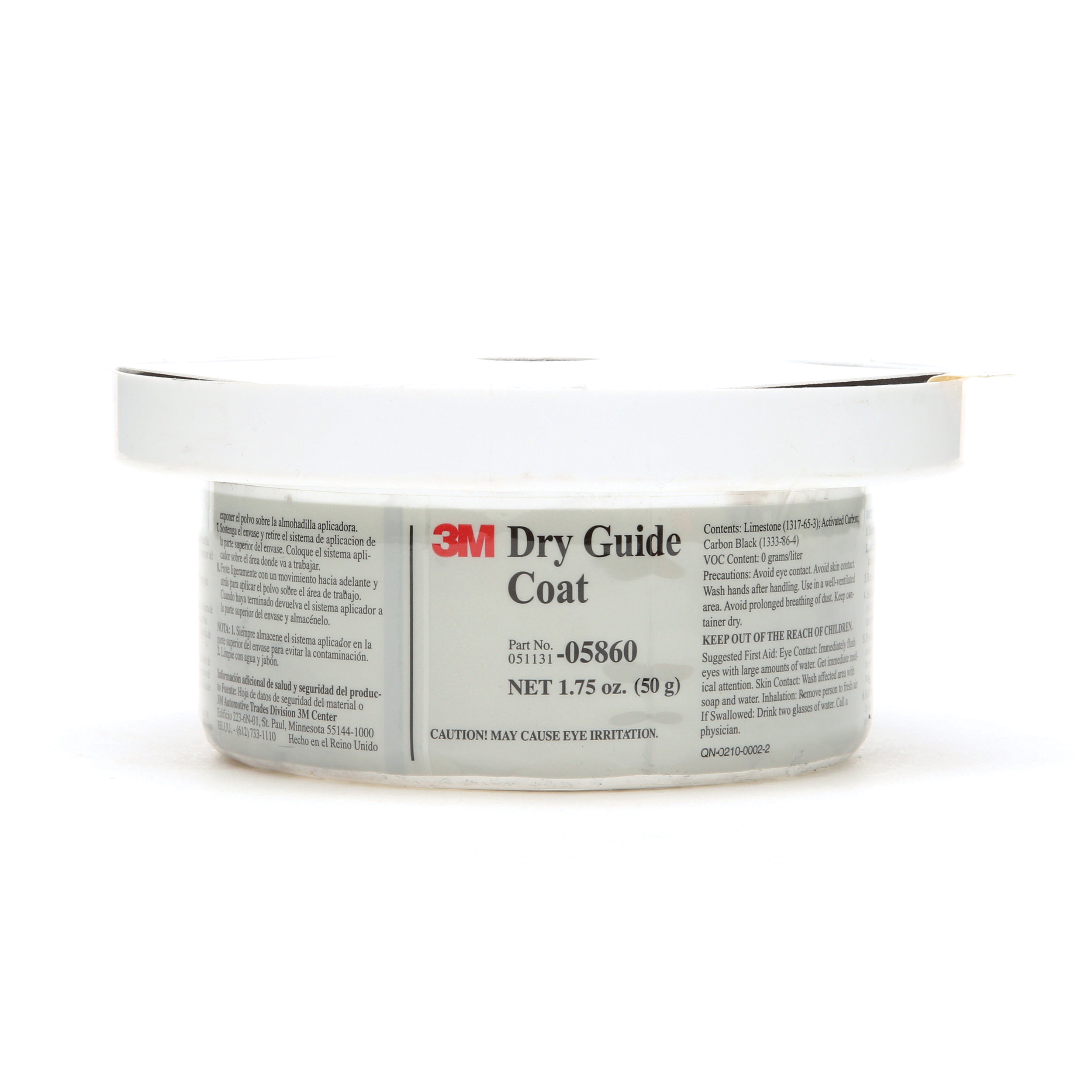3M™ 051131-05860 Dry Guide Coat, 50 g Container, Powder Form, Dark Gray