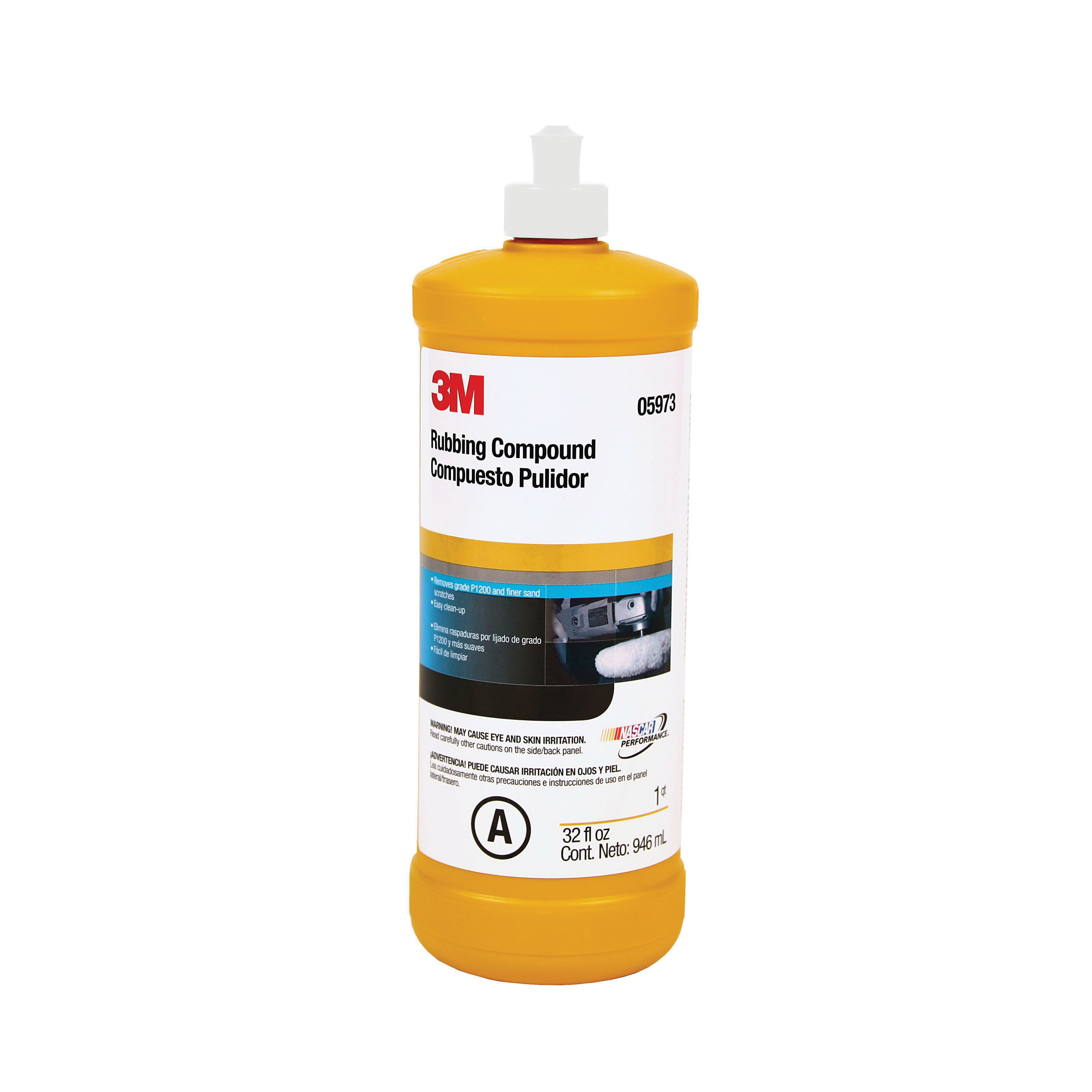 3M™ 051131-05973 Rubbing Compound, 1 qt Bottle, Light Brown, Ultra Fine Grade, 1200 Grit