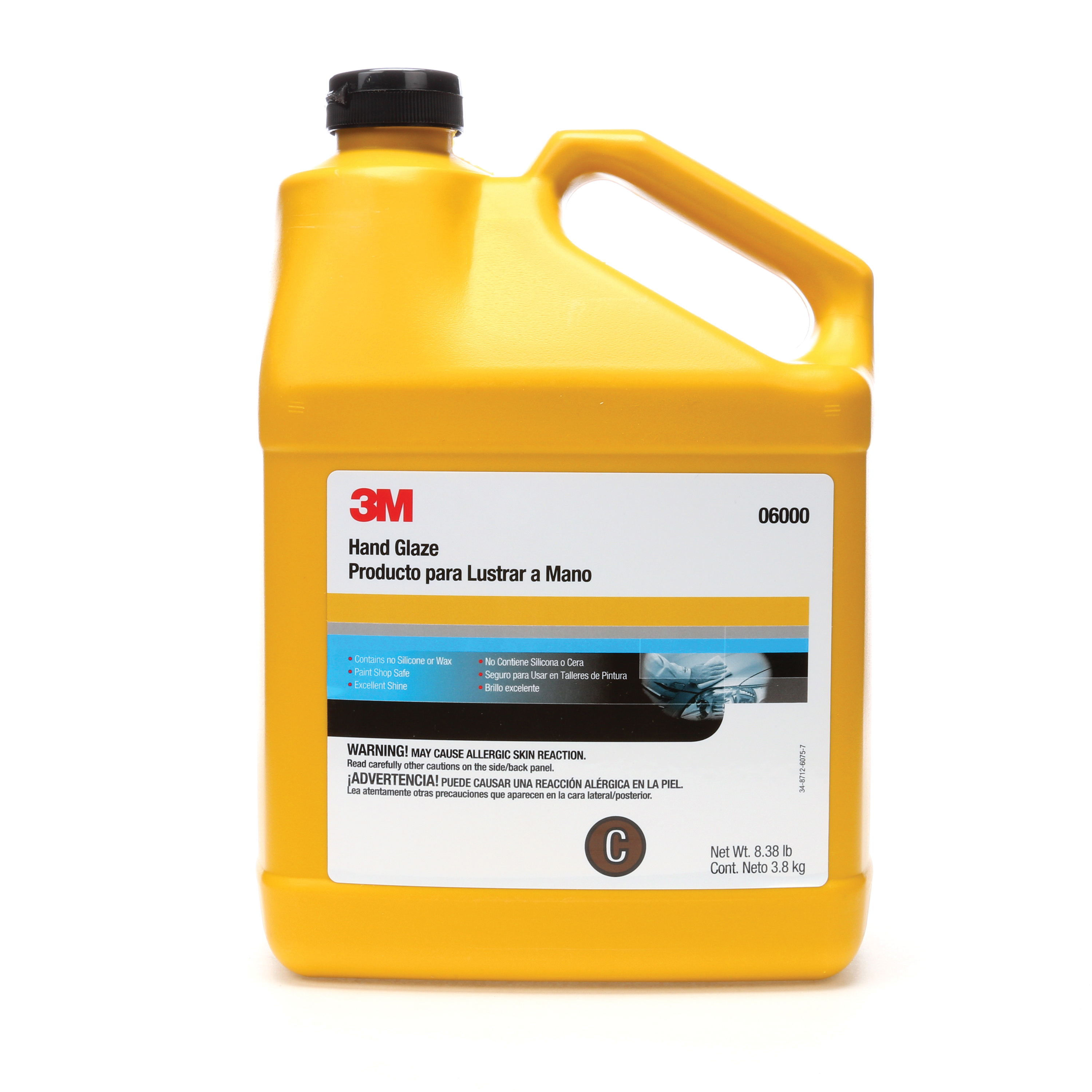 3M™ 051131-06000 Non-Wax Hand Glaze, 1 gal, Brown