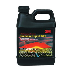 3M™ 051131-06005 Premium Liquid Wax, 1 qt Bottle, Bland Odor/Scent, Pale Green to Yellow, Liquid Form