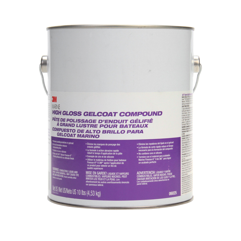3M™ 051131-06025 Gelcoat Compound, 1 gal, Liquid, White