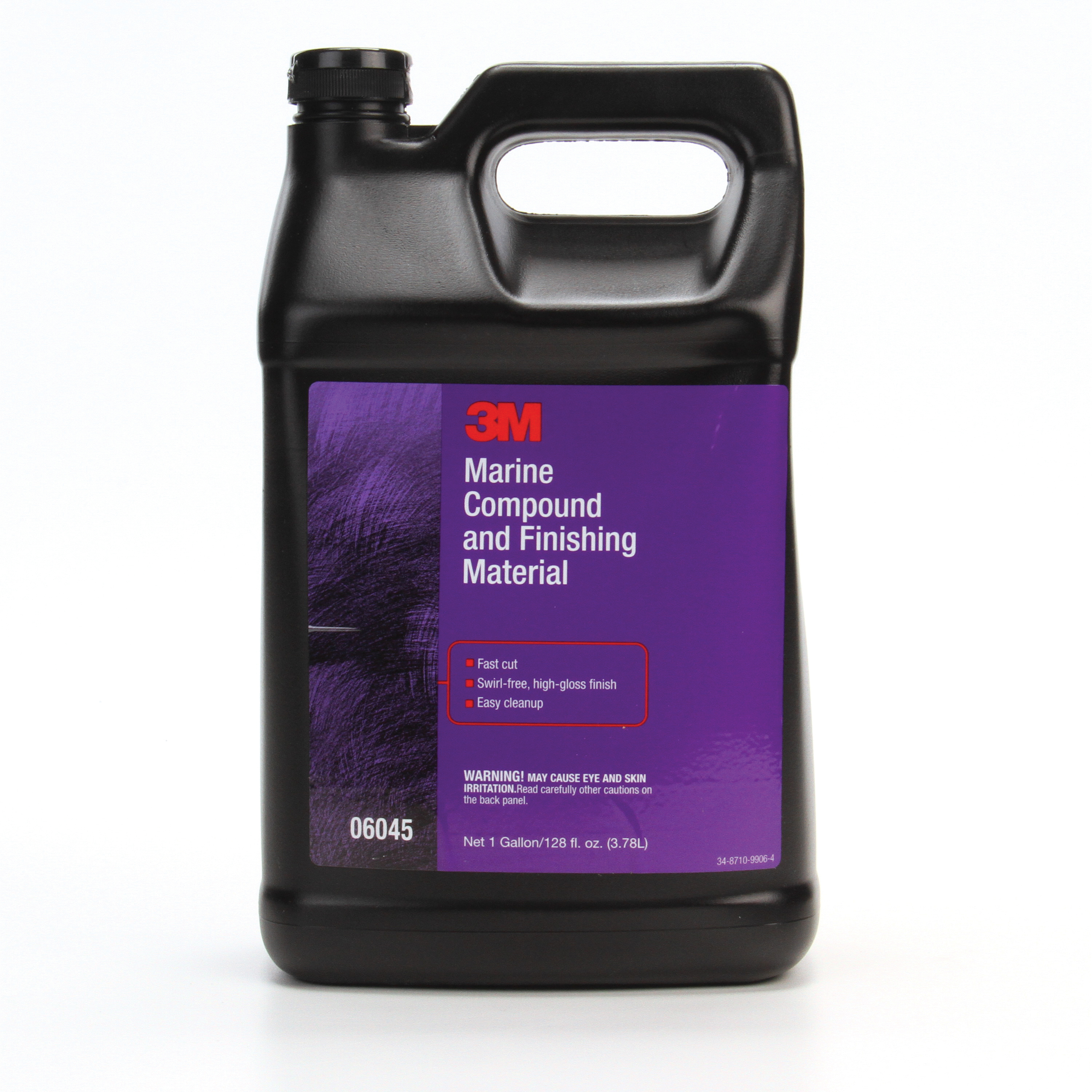 3M™ 051131-06045 Marine Compound and Finishing Material, 1 gal Bottle, Cream