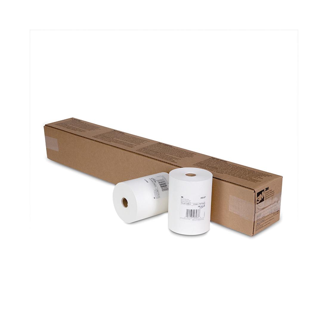 3M™ 051131-06537 Masking Paper, 750 ft Roll L x 6 in W x 1.5 mil THK, Paper, White
