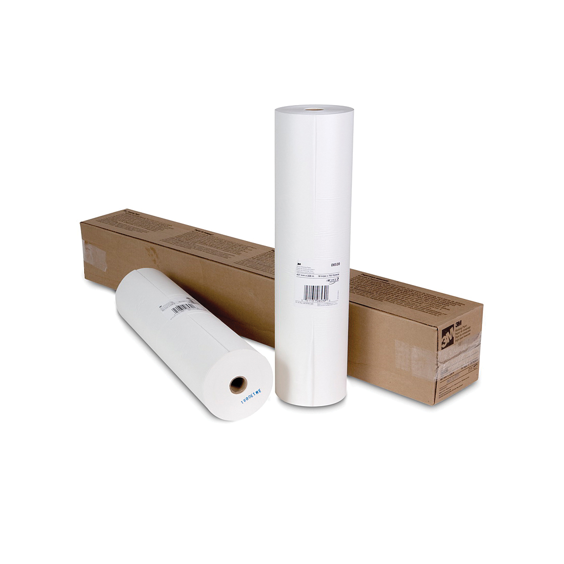 3M™ 051131-06539 Masking Paper, 18 in W x 750 ft Roll L, 1.5 mil THK, Paper, White