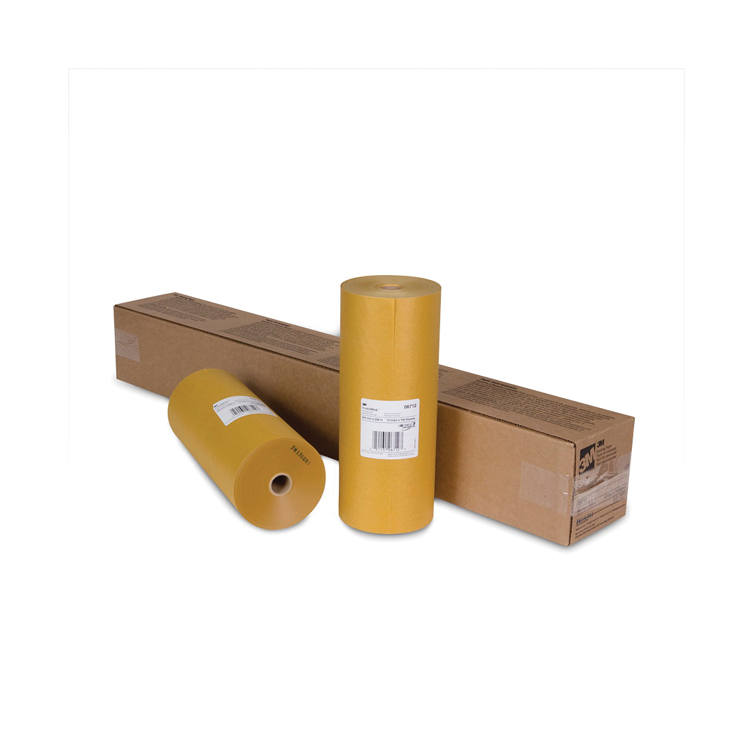 3M™ Scotchblok™ 051131-06712 Masking Paper, 750 ft Roll L x 12 in W x 2 mil THK, Paper, Gold