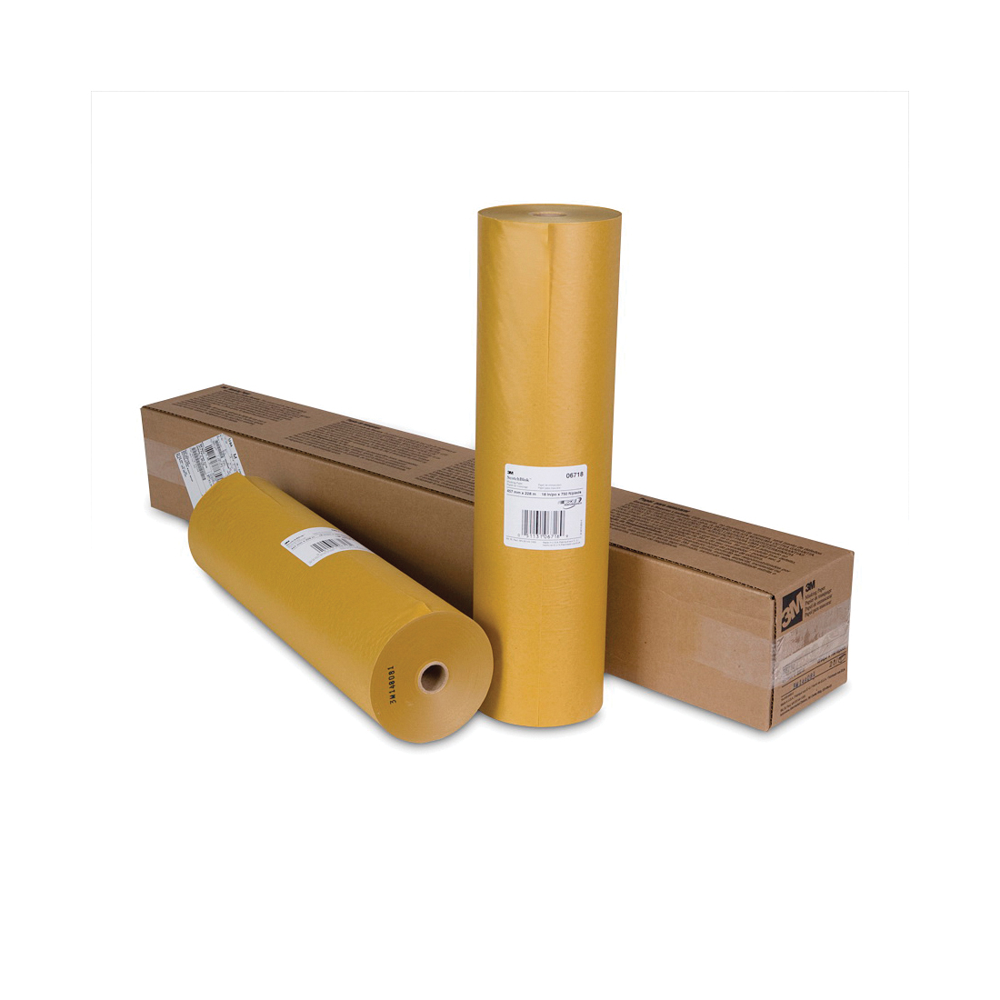 3M™ Scotchblok™ 051131-06718 6718 Masking Paper, 18 in W x 750 ft Roll L, 2 mil THK, Paper, Gold