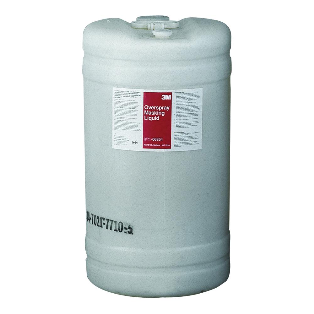 3M™ 051131-06854 Overspray Masking Liquid, 15 gal Jug, Slight Odor/Scent, Semi Clear, Liquid Form