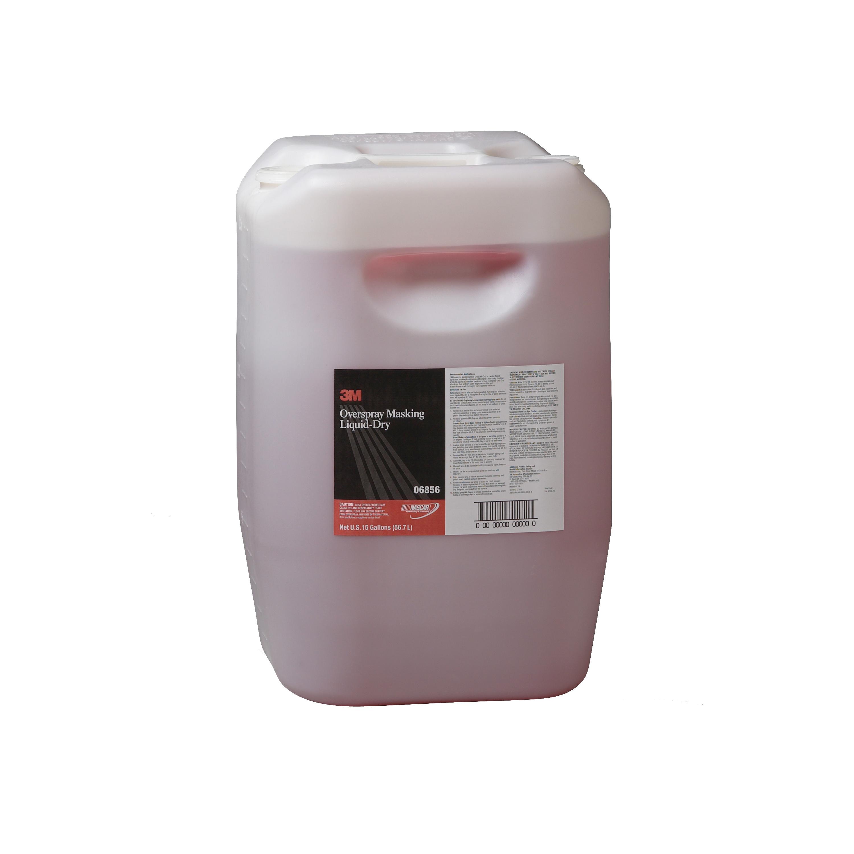 3M™ 051131-06856 Overspray Masking Liquid Dry, 15 gal Drum, Mild Odor/Scent, Red, Liquid Form