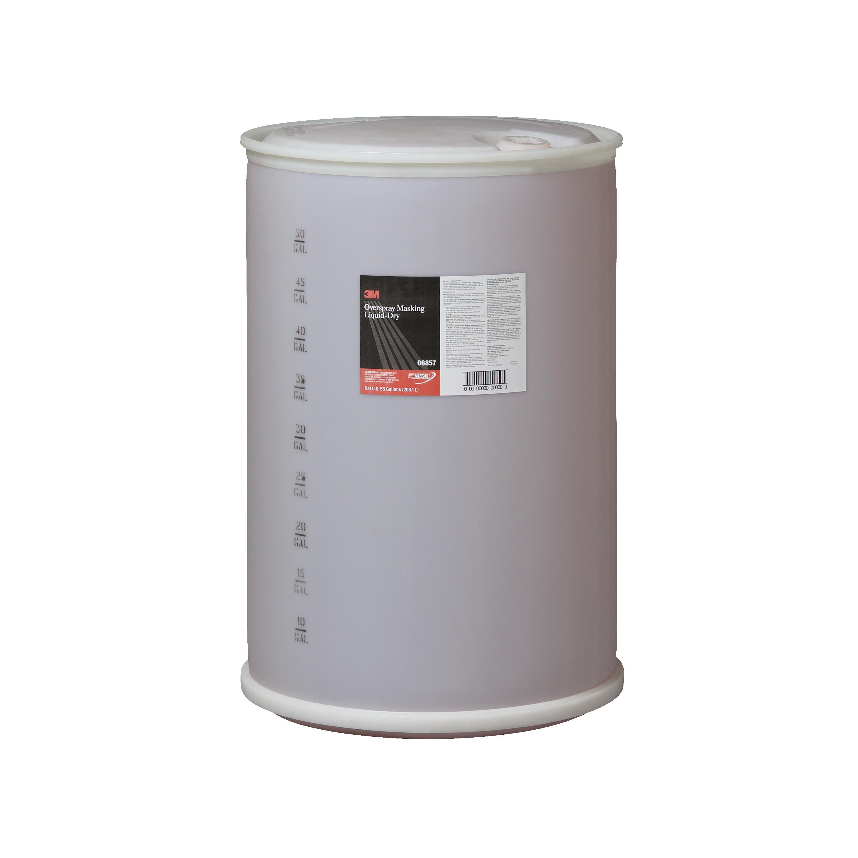 3M™ 051131-06857 Overspray Masking Liquid Dry, 55 gal Drum, Mild Odor/Scent, Red, Liquid Form